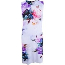 Calvin Klein Women's Floral-Print Shift Dress (14), Multicolor(polyester) found on Bargain Bro from Overstock for USD $58.13
