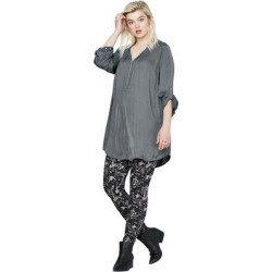 Plus Size Women's Leggings by ellos in Grey Black Print (Size 4X) found on Bargain Bro Philippines from Ellos for $18.90