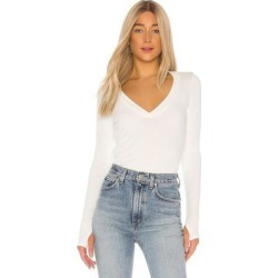 Rudolph V Neck Top - White - Michael Lauren Tops found on Bargain Bro India from lyst.com for $79.00