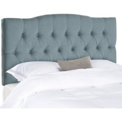 Safavieh Axel Sky Blue Upholstered Tufted Headboard (King) found on Bargain Bro from Overstock for USD $232.20