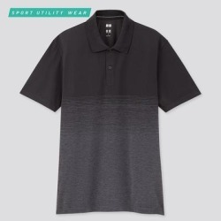 UNIQLO Men's Dry-Ex Short-Sleeve Polo Shirt, Black, S found on Bargain Bro from Uniqlo for USD $15.12