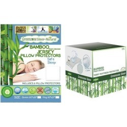Viscose from Bamboo Mattress Protector with Pillow Protectors (Queen with King Pillow Protectors), Green, DreamTex found on Bargain Bro from Overstock for USD $47.87