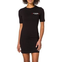 petite Love Moschino Womens Black Short Sleeve T Shirt Dress (XS), Women's(cotton, Solid) found on Bargain Bro Philippines from Overstock for $228.00