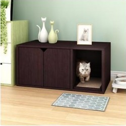 Way Basics Modern Enclosed Cat Litter Box, Espresso found on Bargain Bro from Chewy.com for USD $70.66