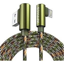 Tech Zebra Lightning Cables Green - Green Camo Lightning Charging Cable found on Bargain Bro Philippines from zulily.com for $11.49