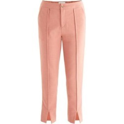 Cropped Slim Trousers In Dusty Pink - Pink - Paisie Pants found on MODAPINS from lyst.com for USD $91.00