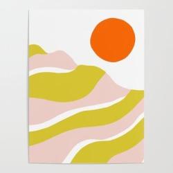 Art Poster   Sierra Mountain Sunset by Sunshinecanteen - 18