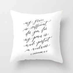 Couch Throw Pillow | 2 Corinthians 12:9 My Grace Is Sufficient by Ettie Kim Studio - Cover (16