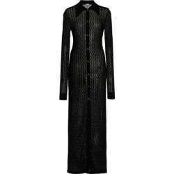June Pointelle-knit Maxi Sweater Dress - Black - Dodo Bar Or Dresses found on Bargain Bro from lyst.com for USD $539.60