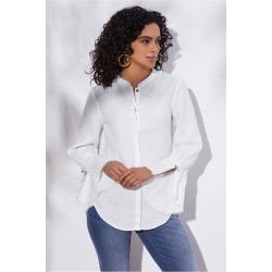Women's Alejandra Shirt by Soft Surroundings, in White size XS (2-4)