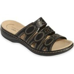 Women's Leisa Cacti Sandals by Clarks, Black 6.5 W Wide found on Bargain Bro from Blair.com for USD $60.79