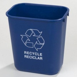 Carlisle Food Service Products Rectangle 3.33 Gallon Curbside Trash & Recycling Bin in Blue, Size 12.0 H x 11.5 W x 8.25 D in   Wayfair 342928REC14 found on Bargain Bro Philippines from Wayfair for $301.20