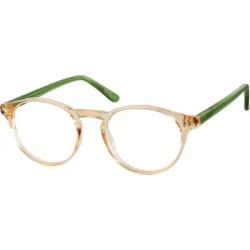 Zenni Classic Round Prescription Glasses Cream Tortoiseshell Plastic Frame found on Bargain Bro from Zenni Optical for USD $12.12