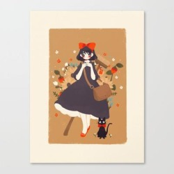 Canvas Print | Kiki's Delivery Service by Cinnamoonie - MEDIUM - Society6 found on Bargain Bro from Society6 for USD $66.87