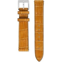 Grip Alligator Watch Strap, 35mm - Metallic - Gucci Watches found on Bargain Bro India from lyst.com for $450.00