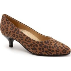 Extra Wide Width Women's Kiera Pumps by Trotters in Brown Cheetah (Size 8 WW) found on Bargain Bro India from Woman Within for $104.99