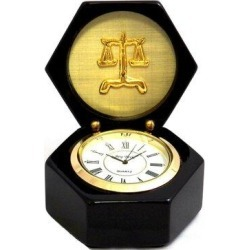 Winston Porter Legal ClockWood in Black/Brown/Yellow, Size 4.0 H x 3.25 W x 3.25 D in   Wayfair 1DCFB9CF06AD44AEA11C171307842913 found on Bargain Bro Philippines from Wayfair for $65.99