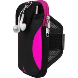 Workout Sweat Absorbing Armband Wallet Case Dual Pocket Mobile Pouch found on Bargain Bro Philippines from Overstock for $20.59