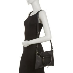 Soft Leather Medium Foldover Crossbody Bag - Black - Lancaster Shoulder Bags found on MODAPINS from lyst.com for USD $110.00