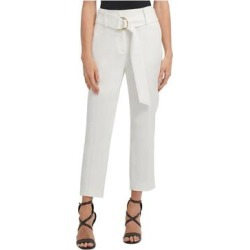 DKNY Womens White Solid Straight leg Pants Size 8 (White - 8), Women's(knit) found on Bargain Bro from Overstock for USD $31.90