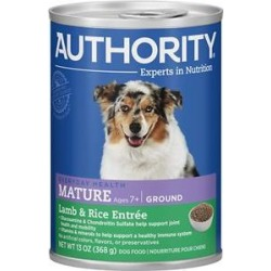 Authority Lamb & Rice Entree Mature Ground Canned Dog Food, 13-oz, case of 12 found on Bargain Bro Philippines from Chewy.com for $16.20