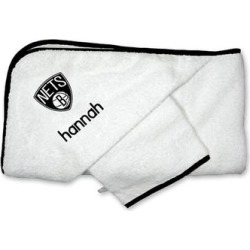 Brooklyn Nets Infant Personalized Hooded Towel & Mitt Set - White found on Bargain Bro Philippines from Fanatics for $44.99