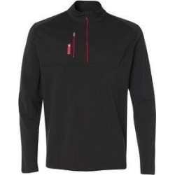 Adidas Athletic Quarter-Zip Jacket, Assorted Colors Black Red Royal (X-Large - Black/Bold Red), Men's(polyester, Solid) found on Bargain Bro Philippines from Overstock for $76.99