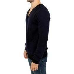 Karl Lagerfeld Blue v-neck pullover Men's sweater found on MODAPINS from Overstock for USD $202.35