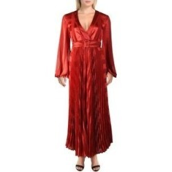 Alexis Womens Salomo Maxi Dress Printed Faux Wrap - Red Geo Stripes (M), Women's(polyester) found on MODAPINS from Overstock for USD $162.34