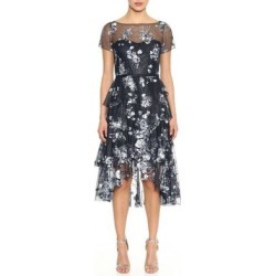 Embroidered Cocktail Dress - Blue - Marchesa notte Dresses found on MODAPINS from lyst.com for USD $795.00