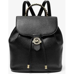 Michael Kors Mina Large Pebbled Leather Backpack Black One Size found on Bargain Bro Philippines from Michael Kors for $398.00