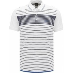 Hugo Boss White Paddy 5 Polo T-shirt (XL), Men's(cotton, Stripe) found on MODAPINS from Overstock for USD $125.00