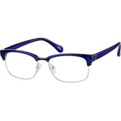 Zenni Retro Browline Prescription Glasses Blue Frame found on Bargain Bro India from Zenni Optical for $27.95