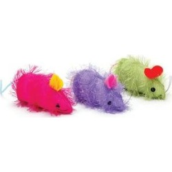 Ethical Pet Shaggy Mouse Cat Toy with Catnip, Color Varies, 4-in found on Bargain Bro India from Chewy.com for $4.19