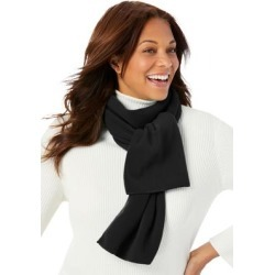 Plus Size Women's Fleece Scarf by Woman Within in Black found on Bargain Bro Philippines from fullbeauty for $19.99