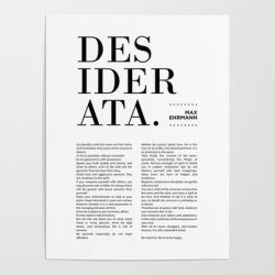 Art Poster | Desiderata By Max Ehrmann - Typography Print 13 by Studio Grafiikka - 18
