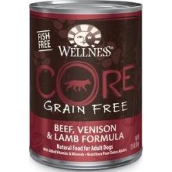Wellness CORE Grain-Free Beef, Venison & Lamb Formula Canned Dog Food, 12.5-oz, case of 12