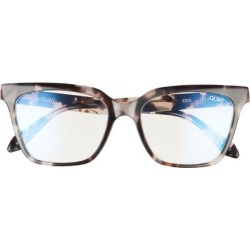 52mm Blue Light Filtering Glasses - Milky Tort / Clear Blue Light - Blue - Quay Sunglasses found on Bargain Bro Philippines from lyst.com for $55.00