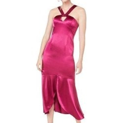 Aidan Mattox Women's Sleeveless Keyhole Hi-Lo Party Dress, Raspberry, 8 (Raspberry - 8), Pink found on MODAPINS from Overstock for USD $75.00