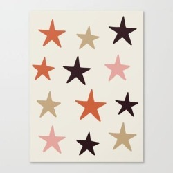 Canvas Print | Star Pattern Color by Evelyne Van Den Broek - LARGE - Society6 found on Bargain Bro India from Society6 for $143.99