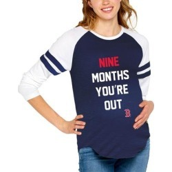 Boston Red Sox Soft as a Grape Women's Maternity Baseball Long Sleeve T-Shirt - Navy found on Bargain Bro India from Fanatics for $49.99