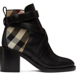 Black Vintage Check Pryle Heeled Boots - Black - Burberry Boots found on Bargain Bro India from lyst.com for $760.00
