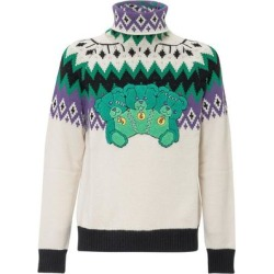Bear Patch Turtleneck Sweater - Green - MSGM Knitwear found on MODAPINS from lyst.com for USD $367.00