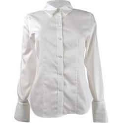 Calvin Klein Women's Plus Size Cotton Button-Front Shirt (16W, White) - White (White) found on Bargain Bro Philippines from Overstock for $34.99