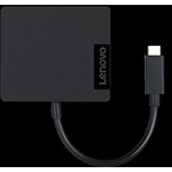 Lenovo USB-C 4 in 1 Travel Docking Station with HDMI, VGA, USB 3.0 and RJ45