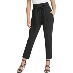 DKNY Womens Black Belted Skinny Pants Size 12 (Black - 12), Women's(knit, Solid) found on Bargain Bro from Overstock for USD $19.74