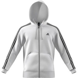 Adidas Men's Essential 3 Stripe Front Pocket Zip Up Hoodie found on Bargain Bro from Overstock for USD $34.06