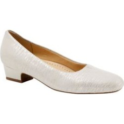 Extra Wide Width Women's Doris Leather Pump by Trotters in Off White (Size 9 1/2 WW) found on Bargain Bro India from Woman Within for $99.99