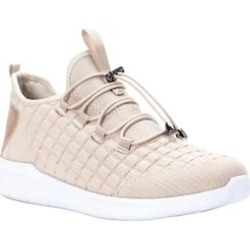 Wide Width Women's Travelbound Walking Shoe Sneaker by Propet in Cream Metallic (Size 12 W) found on Bargain Bro Philippines from Woman Within for $79.99