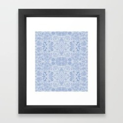 Framed Art Print | Indira Periwinkle by Sierra Neale - Vector Black - X-Small-10x12 - Society6 found on Bargain Bro from Society6 for USD $23.40